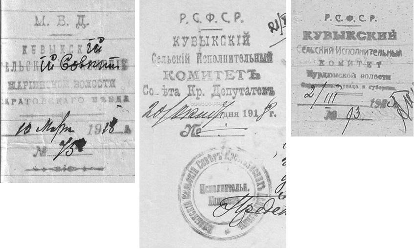 Кувыка сельсовет 1918-25