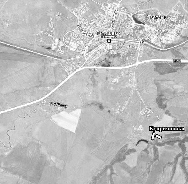 Куприяновка на карте