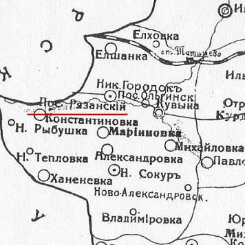 Рязанский посёлок на карте