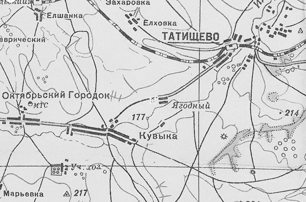 Ягодный посёлок на карте