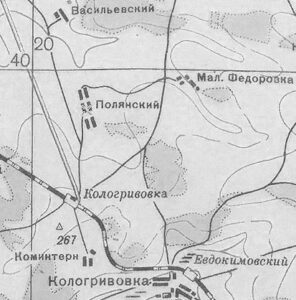 Полянск карта 1941
