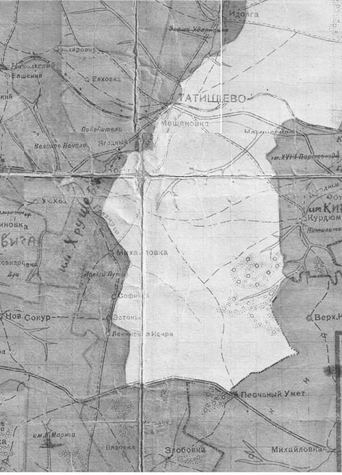 Карта Татищевского артполигона