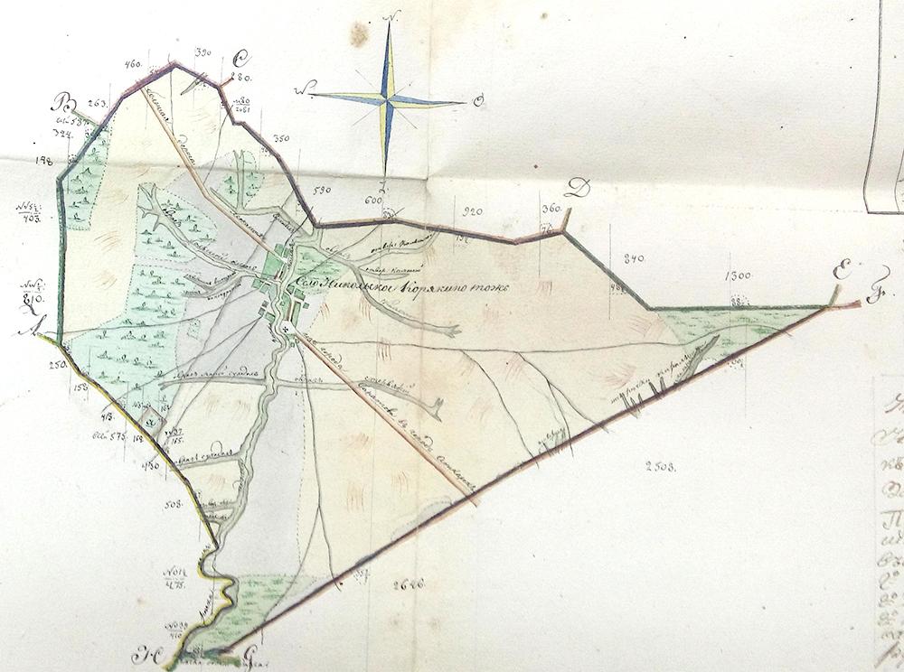 План земель Карякино