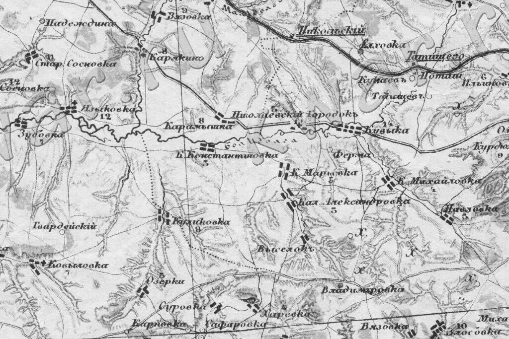 Куликовка карта 1872