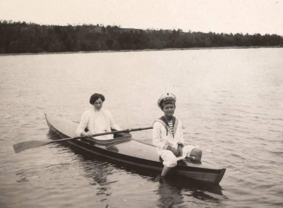 Александра Теглёва и царевич Алексей