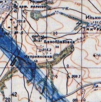 Безобразовка на карте