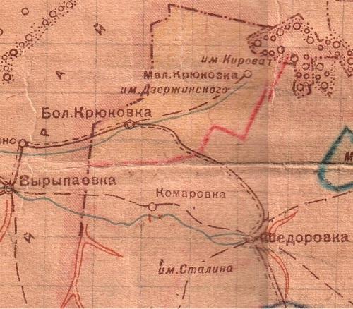 Большая Крюковка карта колхоза